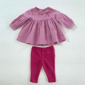 Ralph Lauren Purple Gingham Outfit 6 months